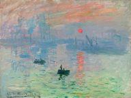 Claude Monet Impression, Soleil Levant 1872 Paris, Musée Marmottan Monet